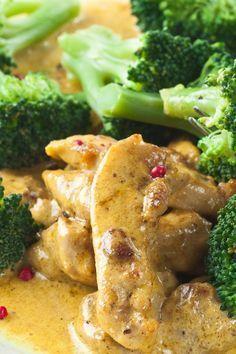 Broccoli Chicken Dijon 1⁄2 cup reduced-sodium chicken broth 1 tbsp light soy sauce 4 cup broccoli, florets 1 clove garlic, minced 1 tbsp olive oil 1 lb boneless sk...