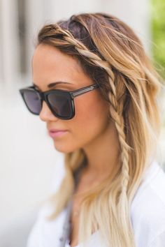 The only thing better than a cute little side braid hairstyle is a side braid hairstyle with ombre color, like this one.