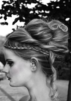 stunning and creative hair up-do.   I can see my girls doing something like this...