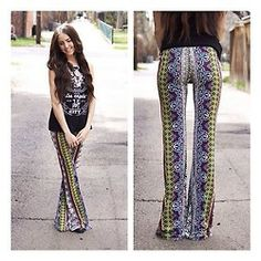 We are swooning over the @raga_la tribal print bell bottoms we just got in stock!  $76 sizes xsmall - large! Email us to order! Info@s...