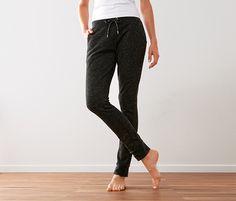 Kalhoty z pleteného fleecu