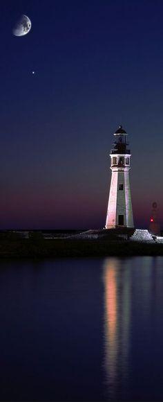 Faro del lago Erie, Búfalo, Nueva York, EEUU