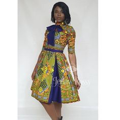 Excited to share the latest addition to my shop: African clothing Midi dress Ankara women clothing African dress African American Fashion, Latest African Fashion Dresses, African Print Dresses, African Dresses For Women, African Print Fashion, Africa Fashion, African Attire, African Wear, African Women