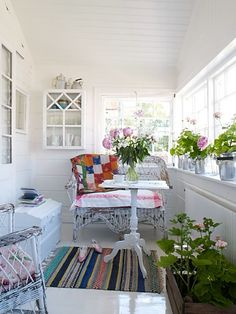 Beautiful closed-in porch.