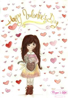 COQUI'S LIFE-Collection   Moramontti's Illustrations - Happy Valentine's Day. __________________________________ Ilustraciones Moramontti - Feliz San Valentín.