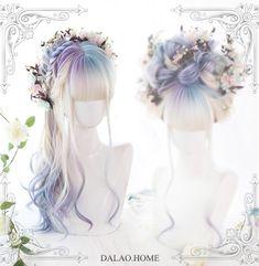 Curly Wigs, Long Curly Hair, Curly Hair Styles, Natural Hair Styles, Pelo Lolita, Lolita Hair, Kawaii Hairstyles, Pretty Hairstyles, Wig Hairstyles