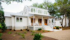 Holiday House House Plan Design from Allison Ramsey Architects Modern Cottage, Modern Farmhouse, Second Floor, Architects, House Plans, Shed, Floor Plans, Exterior, Outdoor Structures