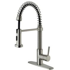 Vigo One Handle Single Hole Bar Faucet with Deck Plate and Pull-Out Spray | Wayfair