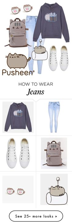 """""""pusheen"""" by lovedreamfashion on Polyvore featuring Glamorous, Pusheen, Converse, contestentry and PVxPusheen"""