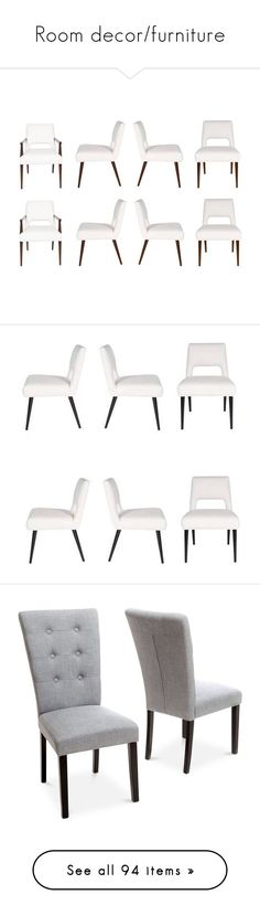 """Room decor/furniture"" by w0nd3rfully-tipt4stic ❤ liked on Polyvore featuring home, furniture, chairs, dining chairs, brown, dining room chairs, brown chair, yard furniture, set of 8 dining chairs and brown's furniture"