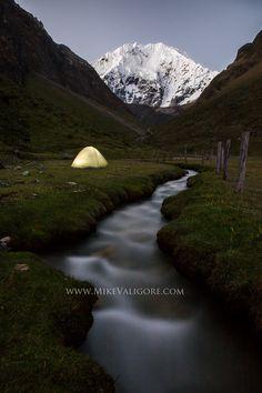 Camping on Peru's Salkantay trek