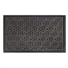 Our doormat's elegant hexagon pattern makes for an ideal entrance to your home.