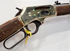 Henry's New Side Gate Rifle - Gunners Den Side Gates, Lever Action Rifles, Weapons Guns, Hand Guns, Den, Arms, Steel, Winchester, Badges