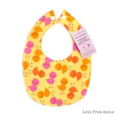 BUY 3 GET 4th FREE Spring Chicks Bib Pink