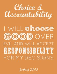 LDS Young Women FREE Choice & Accountability printable #YWs #printable