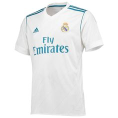 Real Madrid adidas 2017 18 Home Replica Blank Jersey - White f8cf594b2