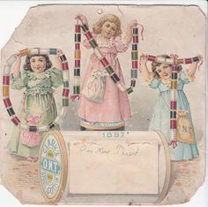 1897 Clark's O.N.T. Spool Cotton trade card