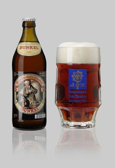 Augustiner Dunkel | Munich's ancient beer with the typical malty-aromatical, spicy taste. A real treat for lovers of dark beers. Ingredients: water, barley malt, hops ALC. 5.6% vol.