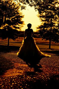 silhouette in the sunset