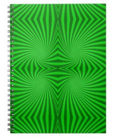 Green spiral pattern spiral notebook $14.35