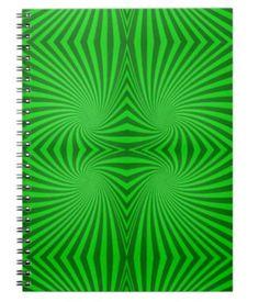 Green spiral pattern spiral notebook $14.35