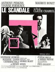The Champagne Murders (Le scandale). France. Anthony Perkins, Stephane Audran, Yvonne  Furneaux, Maurice Ronet. Directed by Claude Chabrol. 1967