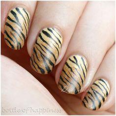 14 Best Tiger Nails Images On Pinterest Tiger Nails Animal Nail