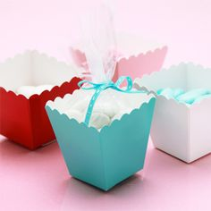 Mini Colored Popcorn Favor Box Kit - 50 pcs - Colored Wedding Favor Boxes - Favor Boxes - Favor Packaging - Wedding Favors & Party Supplies - Favors and Flowers