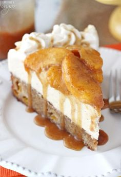 This Peach Caramel Blondie Cheesecake is the stuff dreams are made of. A peach and cinnamon filled blondie is topped with caramel no bake cheesecake, cinnamon peaches and caramel sauce. There is no better way to enjoy some peaches this summer!
