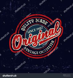 vintage logo printed for t-shirt apparel. Logos Vintage, Retro Logos, Vintage Typography, Vintage Tees, Vintage Denim, Retro Kunst, Automotive Logo, Marken Logo, Denim Branding
