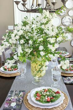 33 Lovely Summer Centerpieces For Home Decoration - Summer brings a wide and colorful selection of in-season flowers, plants, and fruits to brighten up any table. Whether you are hosting a formal dinner. Summer Centerpieces, Table Centerpieces, Centerpiece Flowers, Centerpiece Ideas, Progressive Dinner, Driven By Decor, Elegant Appetizers, Party Table Decorations, Spring Decorations