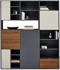 Cabinet Shelving Design, Shelf Design, Cabinet Design, Modern Interior Design, Interior Design Living Room, Living Room Designs, Bathroom Interior Design, Muebles Home, Muebles Living