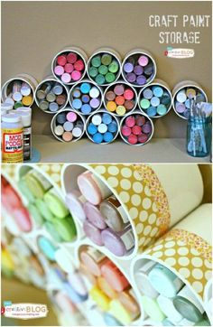 25 Life-Changing PVC Pipe Organizing and Storage Projects - Workshop - DIY & Handwerk Pvc Pipe Storage, Craft Paint Storage, Craft Organization, Closet Organization, Tool Storage, Dyi, Diy Décoration, Diy Crafts, Pvc Pipe Projects