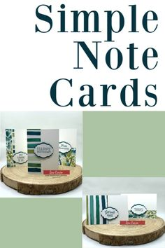 These simple note cards are quick to make but so pretty! Use whatever scrapbook paper you have on hand and you can make a stack of cards in minutes. Makes a great gift idea for a teacher or anyone in your life who loves handmade cards! www.lisasstampstudio.com #simplenotecards #craftideas #papercrafts #papercraftkits #papercraftadults #diypapercraft #cardmaking #handmadecards #diycards #lisasstampstudio #lisacurcio #stampinup #stampinupcards #stampinupforevergreenery…