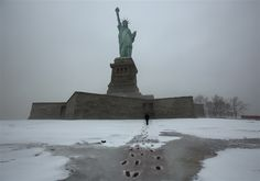 Following Sandy damage, Statue of Liberty to reopen on Fourth of July (Photo: John Makely / NBC News)