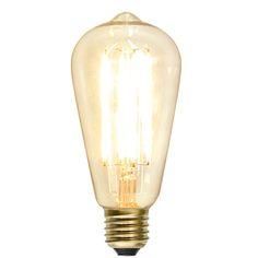 Dimbar Ledlampa koltrådsfilament/klassisk form 140 lumen E27 Light Bulb, Led, Stars, Lighting, Home Decor, Modern, Pedestal, Metal, Decoration Home