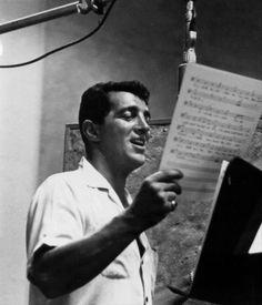 Dean Martin in the studio (1950s)