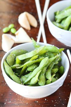 Make your own restaurant-style Steamed Edamame at home in just 10 minutes or less! So delicious and fun to eat. They're the perfect after-school snack, appetizer, or side dish!