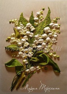 Lily of the valley silk ribbon
