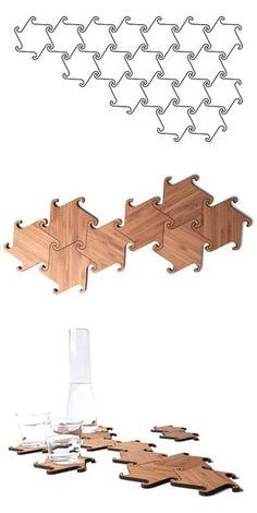 Zesch Interlocking Coasters - Michiel Cornellissen.
