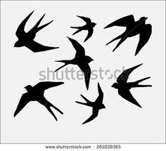 swallow bird silhouette