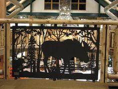 Custom Made Metal art Railing for balcony & stair: Moose
