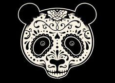 Fancy - Day of the Dead Panda Endangered Artwork