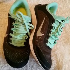 Nike Free 3.0 shoes size 5 in women's. I bought these  shoes from another posher thinking they will fit me. However,  I am 5.5 on tennis which I just realized.  They are so beautiful and in great condition.  I love them soo much , but too tight for my running purpose. Size 5 in women's.  22cm. 35 Euro. They are dark grey not black. No rips or stains just normal wear . Nike Shoes Sneakers