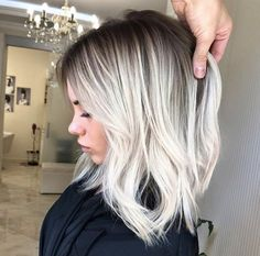 Platinum blonde highlight ombre short hair what? You
