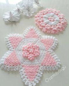 Crochet Potholders, Crochet Doilies, Crochet Flower Patterns, Crochet Flowers, Crochet Crafts, Knit Crochet, Lana, Crochet Earrings, Diy And Crafts