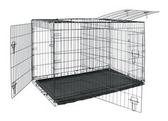 Allmax 3-Door Folding Metal Dog Crate with ABS Tray and Divider, Medium, Black *** You can find out more details at the link of the image. (This is an affiliate link and I receive a commission for the sales) #DogLovers