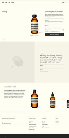 Website and minimalist branding with a gorgeous layout for a cosmetic brand. Informations About Aesop Skincare Web Design. Website an Web And App Design, News Web Design, Web Design Quotes, Creative Web Design, Design Blog, Web Design Company, Page Design, Design Design, Portfolio Web Design