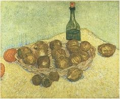 Still Life: Bottle, Lemons and Oranges  Painting, Oil on Canvas  Arles: May, 1888  Kröller-Müller Museum  Otterlo, The Netherlands