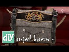 Lederhosen-Trägertasche aus Filz   DIY einfach kreativ - YouTube